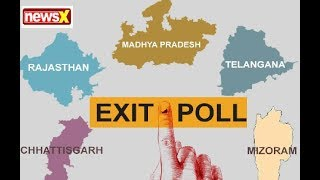 Rajasthan, Telangana, Chhattisgarh, Mizoram, MP Exit Polls 2018 - NEWSXLIVE