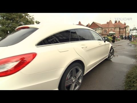 David Coulthard with the CLS 63 AMG Shooting Brake and Adam Scott