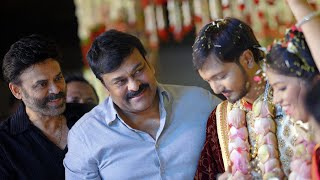 Chiranjeevi & Venkatesh At Journalist Prabhu Daughter Wedding | TFPC - TFPC