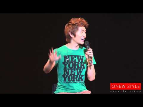 [CUTE/FANCAM] 11o727 Blur Onew speaking Japanese!! @ T0KY0