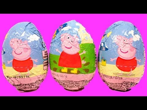Surprise Eggs Peppa Pig Huevo Kinder Sorpresa egg by Unboxingsurpriseegg