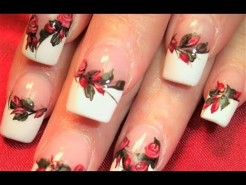 Nail Art Designs - Red Roses DIY Tutorial
