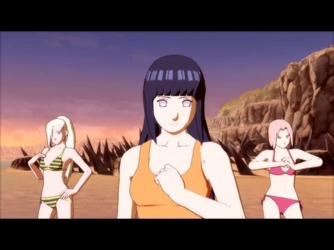Swimsuit Hinata Gameplay vs Swimsuit Temari (New DLC) April 23 2013 Naruto Ultimate Ninja Storm 3