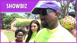 Kanye West and Kim Kardashian visit Ugandan orphanage to donate Yeezy sneakers - THESUNNEWSPAPER