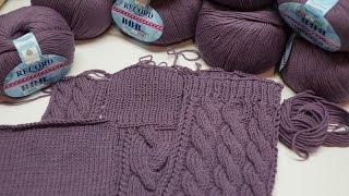 Вязание спицами СП Зимнее платье. Отчет 1