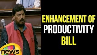 Ramdas Athawale in RS on The Parliament Enhancement of Productivity Bill | Rajya Sabha | Mango News - MANGONEWS