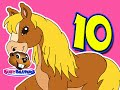 """10 Little Horses"" (Level 1 English Lesson 09) CLIP - Kids English Language, Kindergarten Learning"