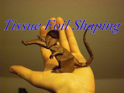 Origami Rat (Eric Joisel) Shaping Tutorial with tissue foil