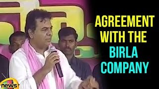 KTR Says Government Signed an Agreement with the Birla Company for SPM Reopening Ceremony | - MANGONEWS