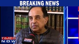 Subramanian Swamy accuses Congress acting like a car without any steering - TIMESNOWONLINE