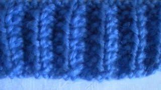 Вязание спицами. Граненая резинка