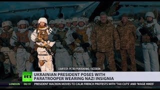 Ukraine's president poses with 'elite' paratrooper sporting... Nazi insignia - RUSSIATODAY