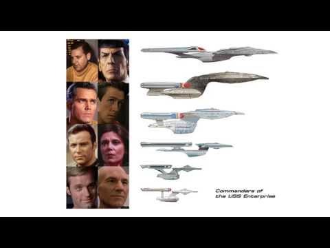 Commanders of the Federation Starship Enterprise 2245-2372