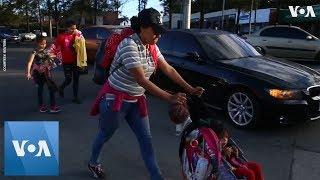 Honduran Migrants, Part of New Caravan, Head for Mexico Border - VOAVIDEO
