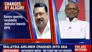 MK Alagiri hits out at Stalin - NEWSXLIVE