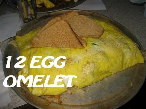 Beth's Cafe 12 Egg Omelet Challenge (with Cult Moo)