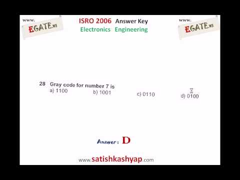 ISRO 2006 Electronics Answer Key