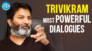 Director Trivikram Srinivas Most Powerful Dialogues|Trivikram's Celluloid||Back2Back Punch Dialogues - IDREAMMOVIES