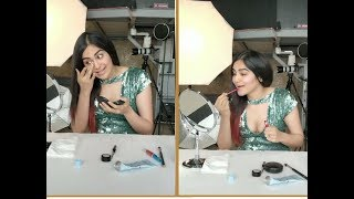 Actress Adah Sharma One Minute Makeup Challenge Video | Adah Sharma - RAJSHRITELUGU