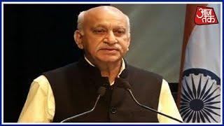 आरोपों की टाइमिंग पर M.J. Akbar के सवाल, बोले- चुनाव से पहले छवि बिगाड़ने की कोशिश - AAJTAKTV