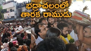 NTR at Bhadrachalam temple with Koratala Siva || #NTRatBhadrachalam - IGTELUGU