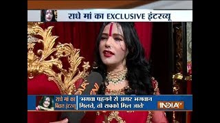 I wear mini dresses during night but never wore it publicly : Radhe Maa tells India TV - INDIATV