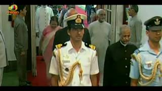 Pranab Mukherjee Entry At His Farewell Meeting Held At Central Hall of Parliament | Mango News - MANGONEWS