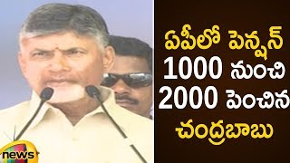 CM Chandrababu Naidu Doubles the Amount of Pension in AP | Janmabhoomi Program | Mango News - MANGONEWS