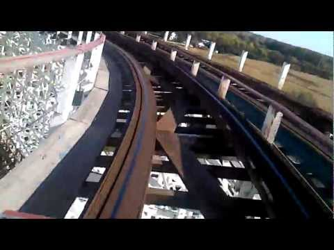 American Eagle (red side) POV - Six Flags Great America