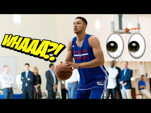 Ben Simmons Returns To Philadelphia 76ers Practice Court Doing Drills :: 2017