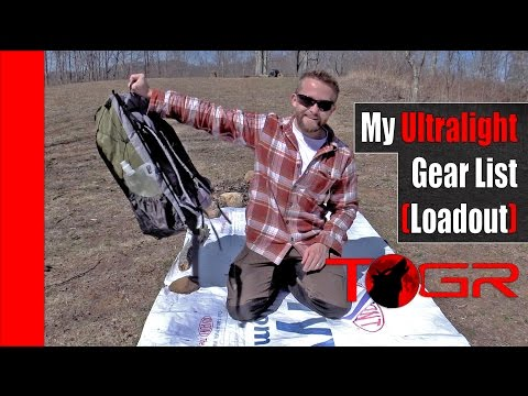My Ultralight Gear List - Spring Example - The Outdoor Gear Review