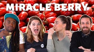 MIRACLE BERRY Flavor Trippin' 👅 Taste Test - FOODNETWORKTV