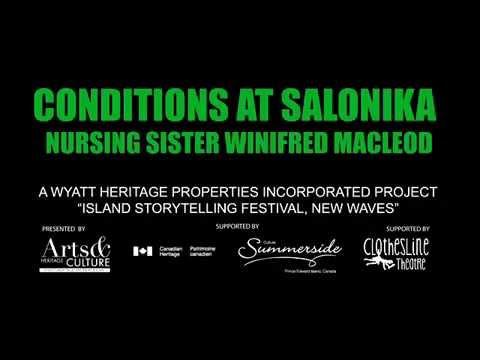 Conditions at Salonika Nursing Sister Winifred MacLeod