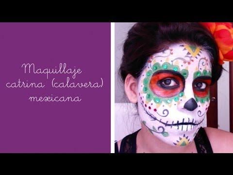 Maquillaje de catrina (calavera) mexicana