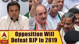 Opposition Will Together Defeat BJP In 2019 Election: Rahul Gandhi | ABP News - ABPNEWSTV