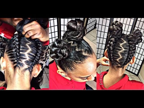 #226.  #iamglamfreak inspired UPSIDE DOWN GLAM BRAIDS INTO BUNS