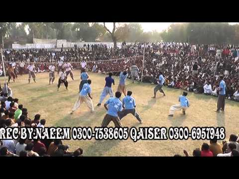 Okara shooting volleyball show mach 2014 full part 2/2 noori vs ikhtar boloch