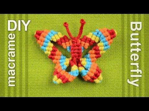How to: Macramé Butterfly / Papillon, Farfalla, Mariposa, Borboleta, Schmetterling, Бабочка