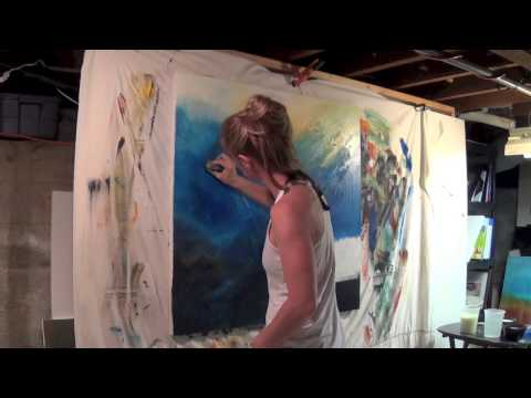 Abstract Art Painting Demo - Original by Shari Kreller -
