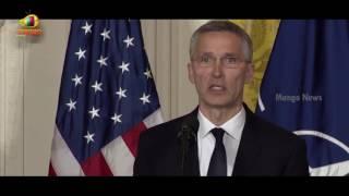 Secretary General Stoltenberg Speech in Joint Press Conference with President Trump | Mango News - MANGONEWS