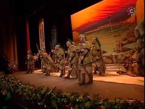 Sesión de Final, la agrupación Los Caballeros de la Piera Reonda actúa hoy en la modalidad de Comparsas.