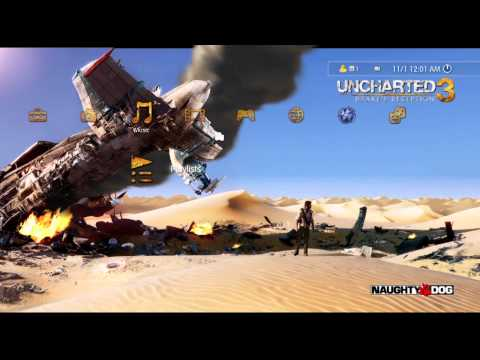 UNCHARTED 3: Drake's Deception PS3 Dynamic Theme [Official HD]