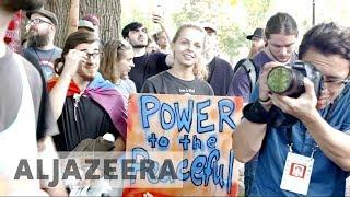 Boston anti-racist protesters swarm right-wing 'free-speech' rally - ALJAZEERAENGLISH