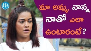 Mumaith Khan About Her Parents || Talking Movies With iDream - IDREAMMOVIES