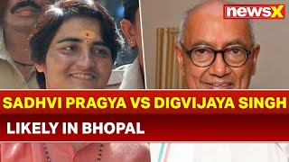 Sadhvi Pragya may Contest against Digvijaya Singh in Bhopal; Lok Sabha Elections 2019 - NEWSXLIVE