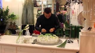 Уроки флористики. Новогодняя композиция на воскированных пальчиках с каллами