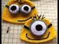 #Crochet Inspired by:  Despicable Me Minion  Beanie / Video 1