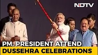 PM Modi Lights 'Raavan Effigy' - NDTV