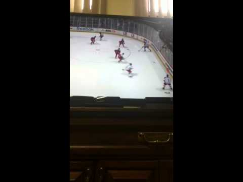 Hockey 13 Xbox 360 gameplay Olympic hockey Austria vs Czech Republic 3/13/2014