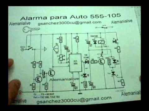 411-555-113 Alarma para Auto con NE 555